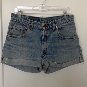 High waisted vintage Levi shorts